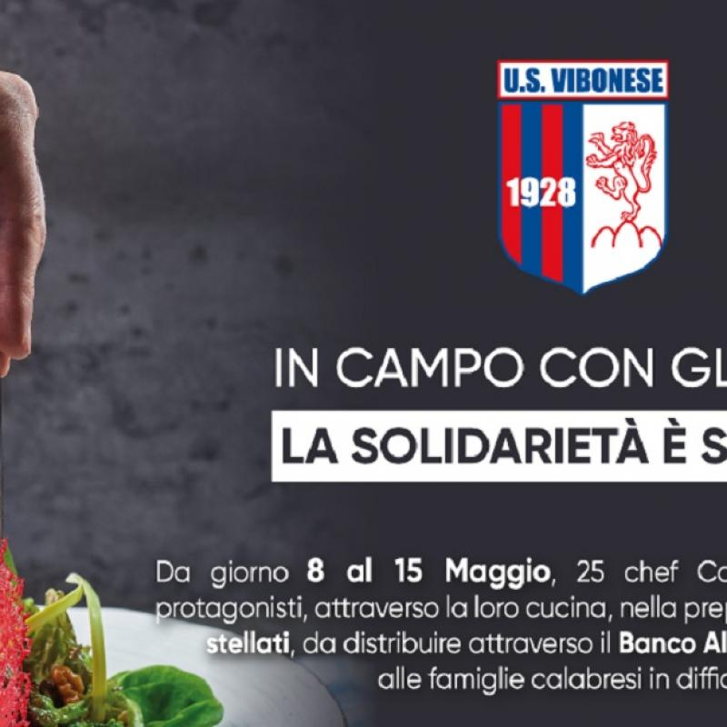 Immagine - La solidarietà scende in campo con gli chef stellati: l'iniziativa della Vibonese